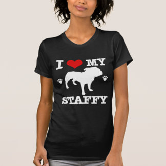 T-shirt Aimez mon staffy