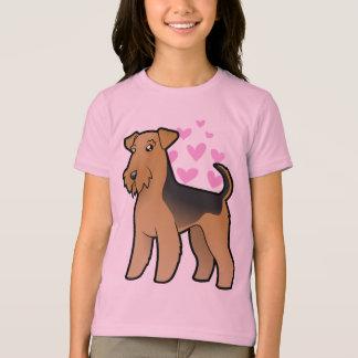 T-shirt Airedale Terrier/amour de gallois Terrier