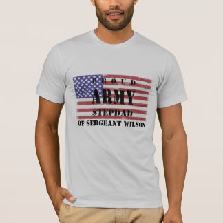 T-shirt Ajoutez la chemise fière nommée de Stepdad de