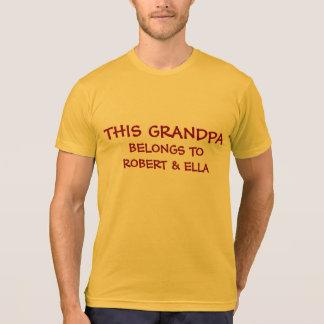T-shirt Ajoutez les noms de grandkids au grand-papa