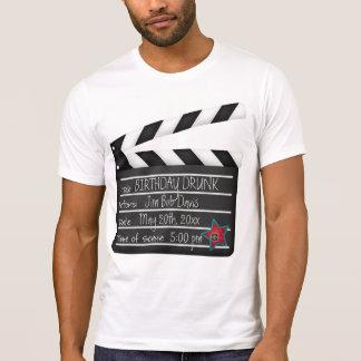T-shirt Ajoutez votre bardeau de cinéaste de mots