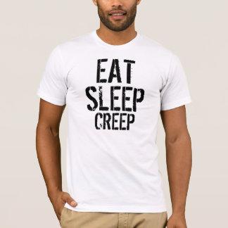 T-shirt Ajustement mince de Manger-Sommeil-Fluage