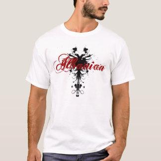 T-shirt Albanais de la meilleure qualité Eagle sur le noir
