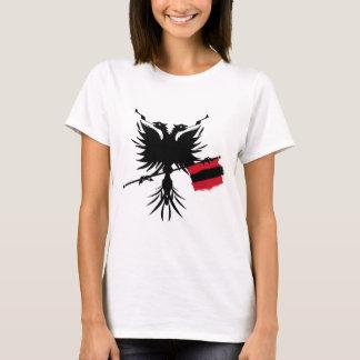 T-shirt Albanais Eagle avec le drapeau - dessus de
