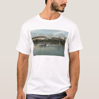 T-shirt Albany, Orégon - bateau de palette croisant