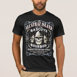 T-SHIRT ALCATRAZ_BAD_GUYS_WHISKEY_LABEL