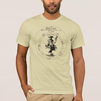 T-shirt Alchimie et Mercurius. Mercury avec le caducée
