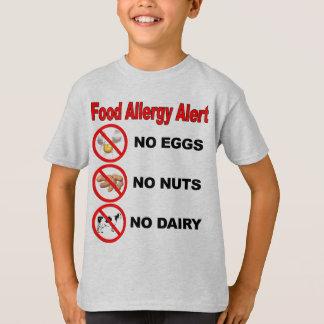 T-shirt Alerte d'allergie alimentaire