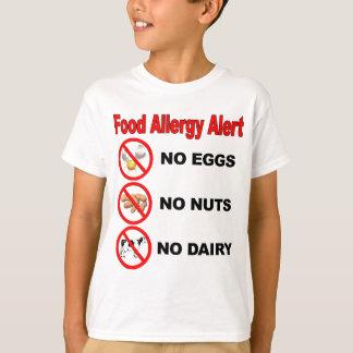 T-shirt Alerte d'allergie alimentaire - logo arrière
