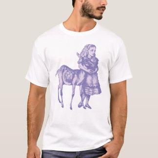T-shirt Alice avec le faon a encré la lavande