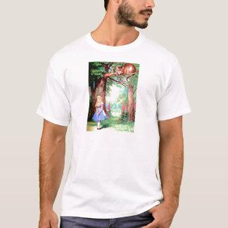 T-shirt Alice et le chat de Cheshire au pays des