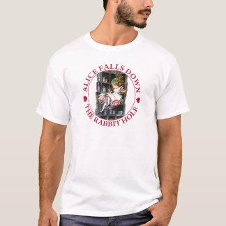 T-shirt Alice tombe vers le bas le terrier de lapin au