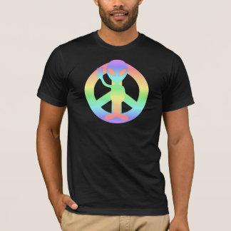 T-shirt alien de paix