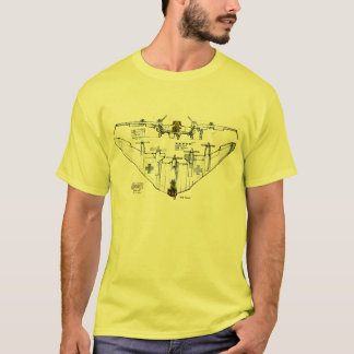 T-shirt allemand d'avion de combat d'aile de vol