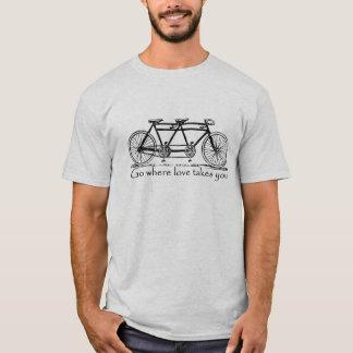 T-shirt Allez où l'amour vous prend - coutume tandem de