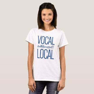 T-shirt #AllForOssoff vocal et local - BLEU