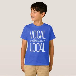 T-shirt #AllForOssoff vocal et local - BLEU du style des
