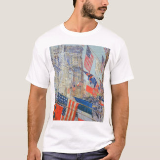 T-shirt Alliés jour, mai 1917 par Childe Hassam, art