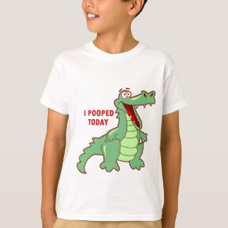 T-shirt Alligator drôle Pooped aujourd'hui