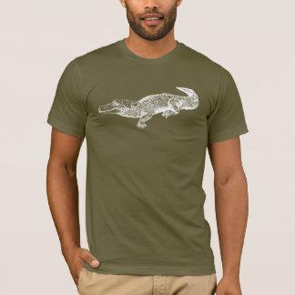 T-shirt alligator sur la chemise foncée