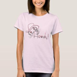 T-shirt allo chemise rose de cow-girl