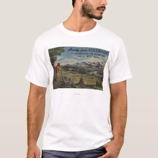 T-shirt Allo (scène de montagne et de prairie)