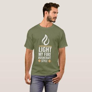 T-shirt Allumez mon style de Bushcraft du feu