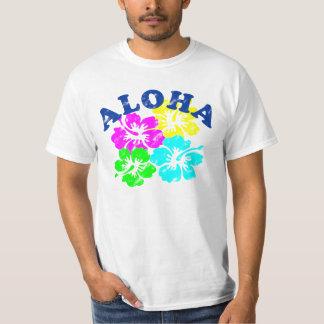 T-shirt Aloha fleurs vintages colorées de Hawaïen de