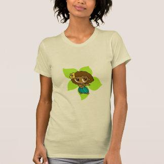 """T-shirt """"Aloha pièce en t de dames de miels"""" en chaux"""