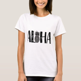 T-shirt Aloha plage moderne d'ananas tropical