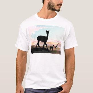 T-shirt Alpaga de coucher du soleil