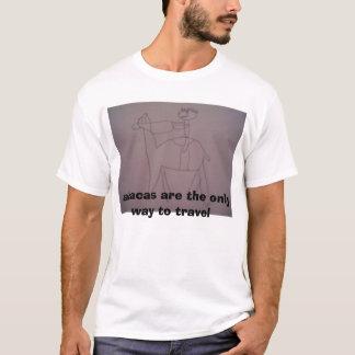 T-shirt alpaga de déplacement
