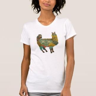 T-shirt Alpaga d'or et chemise de hibou de Teal