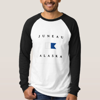 T-shirt Alpha drapeau de piqué de Juneau Alaska