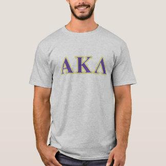 T-shirt Alpha Kappa lettres blanches et pourpres de lambda