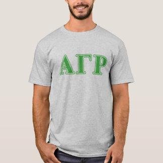 T-shirt Alpha lettres gamma de vert de Rho