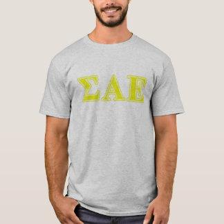 T-shirt Alpha lettres jaunes epsilon de sigma