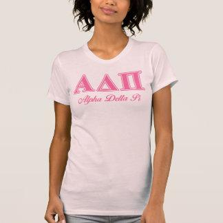 T-shirt Alpha lettres roses du delta pi