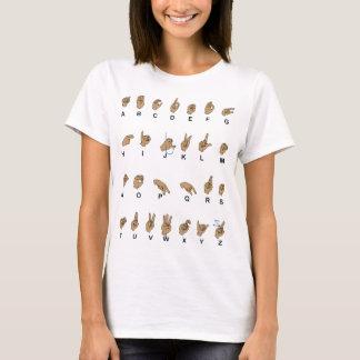 T-shirt Alphabet d'ASL