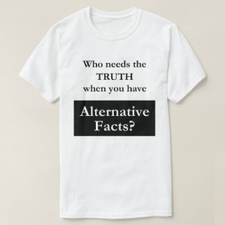 T-shirt alternatif de blanc de faits