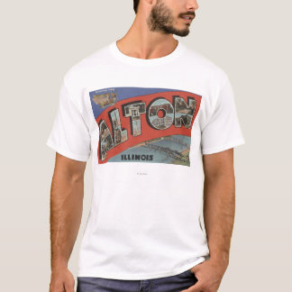 T-shirt Alton, lettre ScenesAlton, IL d'IllinoisLarge