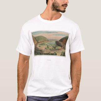 T-shirt Altoona, Pennsylvanie, le Curv en fer à cheval