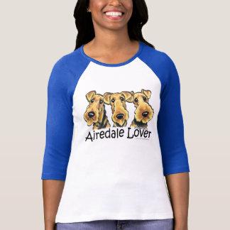 T-shirt Amant d'Airedale Terrier
