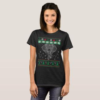 T-shirt Amant laid d'éléphant de Noël