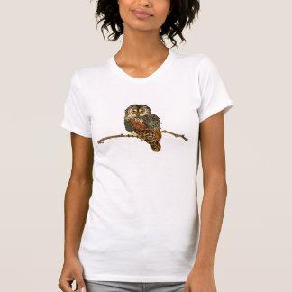 T-shirt ambre bleu de hibou