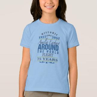 T-shirt Amelia Earhart anniversaire de 75 ans