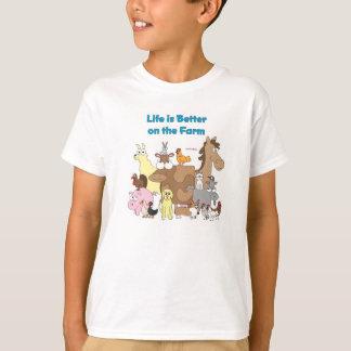 T-shirt Améliorez à la ferme - chemise d'enfants