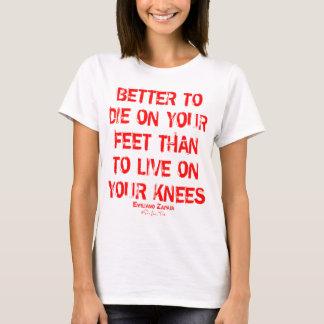 T-shirt Améliorez pour mourir sur vos pieds…