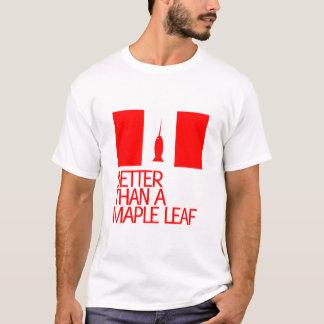 T-shirt Améliorez qu'une feuille d'érable
