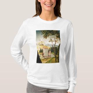 T-shirt Aménagez en parc avec le château dans un fossé et